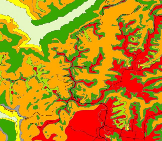 Mapping of Soil Facets of SCA Area, Eastern, NSW